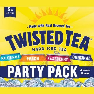 Twisted Tea Hard Iced Tea is a refreshing hard beverage to enjoy during your tailgate, backyard barbecue or while relaxing at home! This 12-pack of 12oz beverages includes peach, half and half, raspberry and original flavors. Pick one up today! #bevdistcle #cleveland #twistedtea #hardicedtea