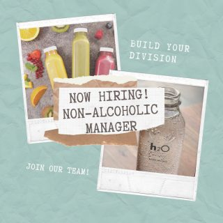 Come work with us!! Now hiring for a non alcoholic brand manager! 🤩🤩