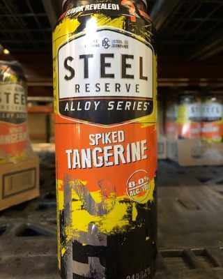 Mystery flavor has been revealed- the new @steelreserve flavor is Tangerine! Try one today at your local stores. #bevdistcle #cleveland #steelreserve