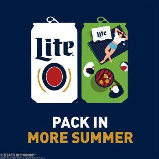 Call a friend, grab some Miller Lite and enjoy the last few weeks of summer together! #bevdistcle #cleveland #millerlite #summer