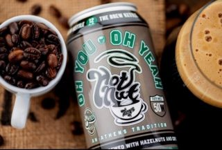 Now available from @thebrewkettle! Oh You Oh Yeah- a Hazelnut & Coffee Imperial Stout 11.5% ABV. Made with local ingredients: hazelnuts from Heggy's Nuts, and a coffee blend from Hoof Hearted Coffee! Available in 12oz cans. #bevdistcle #cleveland #drinklocal #ohiobrewery #craftbeer
