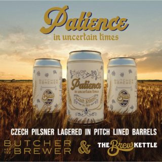 Patience in Uncertain Times- Czech Pilsner 5% ABV. Using pitch, a combination of pine resin & wax, we coated the inside of neutral wine barrels. This creates a flavor-neutral & air-tight vessel to age in. Time transforms this pale Czech-inspired lager, Hopped with Saaz & Sterling, into a delicate, nuanced beer. #bevdistcle #cleveland #drinklocal #localohio #ohiobeers