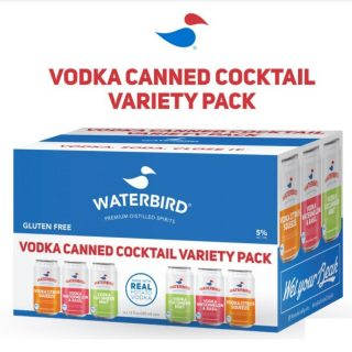 Say hello to the Waterbird Vodka Variety Pack! Each canned vodka variety pack contains 3 tasty flavors: Vodka Cucumber Mint, Vodka Citrus Squeeze, and Vodka Watermelon & Basil- 5% ABV. #bevdistcle #cleveland #cannedcocktails