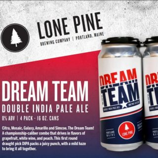 Dream Team from Lone Pine Brewery- Double IPA 8% ABV! Available in cans and on draft. #bevdistcle #cleveland #craftbeer #BeersToThat
