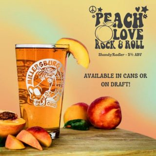Peach, Love, Rock & Roll- brewed with real peach juice and puree! Light peach color with peach aroma and thirst-quenching flavor. Your perfect pool, beach or anywhere companion for those hot summer days. #bevdistcle #cleveland #drinklocal #localohio