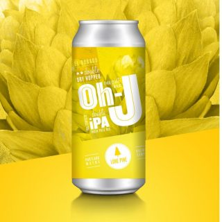 Newest version of DDH Oh-J! Lone Pine's most popular New England style double IPA, made bigger and badder. El Dorado hops and flavors and aroma of lemon drops, melon and tropical fruit. #bevdistcle #cleveland #ipa #craftbeer