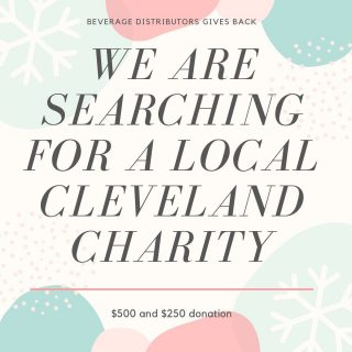 We are in search of two local Cleveland charities to donate $500 and $250 towards today! This season BDI was able to adopt 6 families and make a generous donation to The Greater Cleveland Hunger Network, but we want to keep on giving! All you have to do is comment below on what charity you think we should help support. We will then draw two charities at random at 5:00 today, and donate to their cause. Happy holidays from our team to yours! #bevdistcle #cleveland #charity #local #distributorsdomore #teamwork #followyourbeer #holiday #giving
