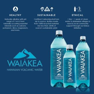 Waiākea volcanic water originates in Hawaii through both snowmelt and rain on the pristine snow-capped peak of the active Mauna Loa volcano, one of the purest environments on earth. Waiākea is then filtered through thousands of feet of porous lava rock before re-emerging at its source. #bevdistcle #cleveland #water