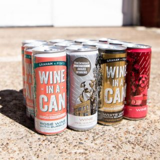 Half way through the week means it's a perfect time to crack open a can of wine! Graham+Fisk's has 4 (250ml) California wine offerings, Red, White, Rosé with bubbles, and White with Bubbles! #bevdistcle #cleveland #localohio #drinklocal