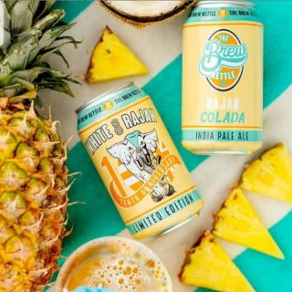 White Rajah has gone completely tropical to celebrate his 10th anniversary with Rajah Colada, he's packed with fresh pineapple puree and exotic hops. Featuring a healthy addition of sabro and sultana hops to bring you a fat dose of island flavor. #bevdistcle #cleveland #craftbeer #localohio #drinklocal