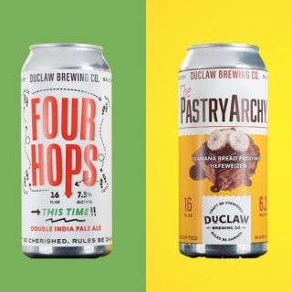 Four Hops This Time IPA: Sip notes of tropical fruits and subtle toffee in this easy-drinking East coast IPA made with Azacca, Mosaic, Sabro & Lotus hops. The PastryArchy Banana Bread Pudding: Your senses will be enveloped in aromas of banana, chocolate, cinnamon, clove, nutmeg & confection. #bevdistcle #cleveland #craftbeer