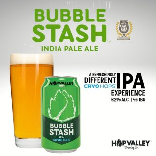 Bubble Stash is brewed exclusively with late addition Mosaic Cryo Hops®, bringing a touch of dank resin and escalating Mosaic's natural blueberry, tangerine, and stone fruit characteristics to new altitudes. #bevdistcle #cleveland #ipa #beer #BeersToThat