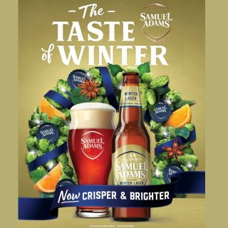 It's A Wintery Remix! For the first time in 31 years, @samueladamsbeer is updating the classic Winter Lager recipe to make it crisper and brighter. It's the same iconic beer, with a wintery remix. Now available on draft and in bottles! #bevdistcle #cleveland #winter #beer #samadams