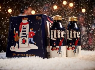 Tis' the season for peace, joy and festive beer cans! Don't forget to grab some Miller Lite to celebrate the holidays. #bevdistcle #beerstothat #cheers #holiday #millerlite