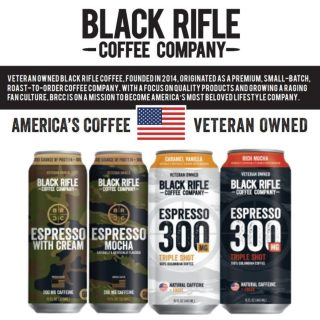 Need a little Monday pick me up ☕? Try a Black Rifle Coffee! Black Rifle Coffee Company is a veteran-owned coffee company serving premium coffee to people who love America. With every purchase you make, they give back. #bevdistcle #cleveland #coffee
