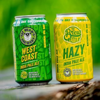 It's National IPA Day! Check out this collaboration beer from @thebrewkettle and @fatheadsbeer! Two different beers using the same hop profiles. West Coast IPA brewed together at Fat Heads, and a Hazy IPA brewed together at The Brew Kettle. #bevdistcle #cleveland #NationalIPADay